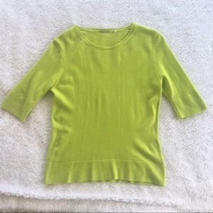 Elie Tahari Lime Green Cashmere Sweater